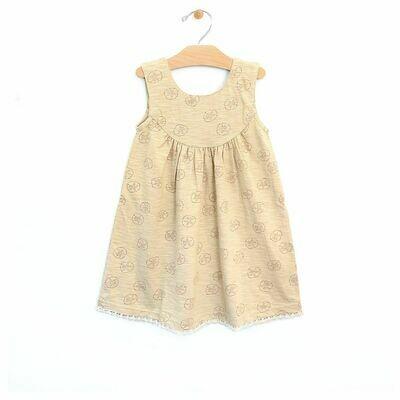 City Mouse Sand Dollar Lace Trim Dress