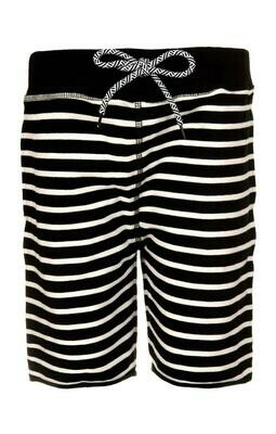 Appaman Camp Shorts - Black & White Stripes