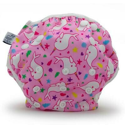 Beau & Belle Reusable Swim Diaper - Narwhals