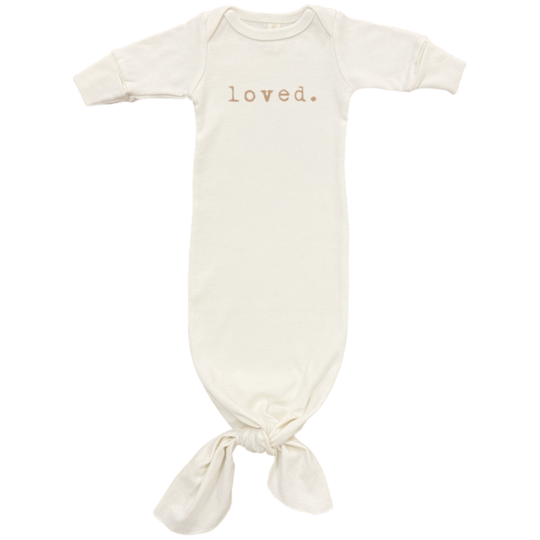 "Tenth & Pine ""Loved"" Gown Gold Font"