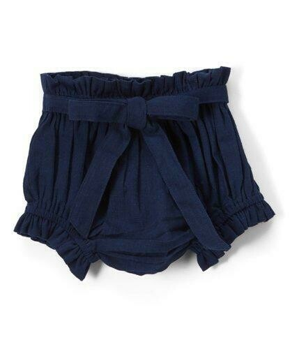 Yo Baby Bloomer Diaper Cover - Navy with Tie