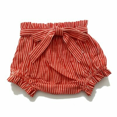 Yo Baby Bloomer Diaper Cover - Candy Stripe with Tie