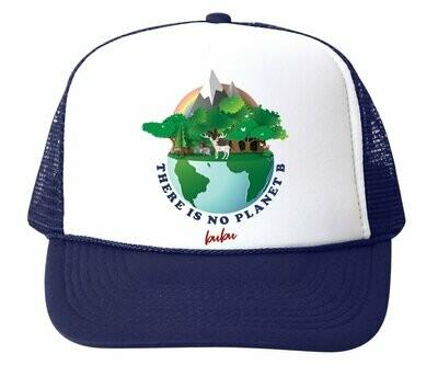 "Bubu ""No Planet B"" Trucker Hat - Navy"