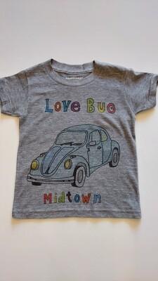 """Love Bug Midtown"" Slug Bug Tee - Grey"