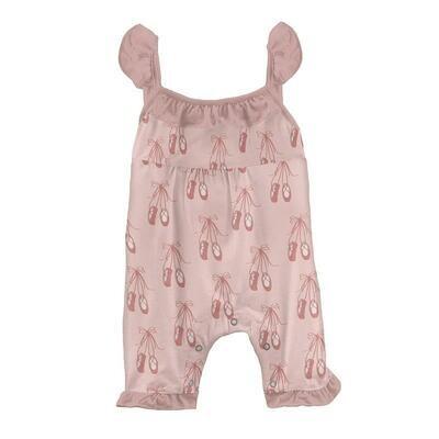 Kickee Pants Print Wing Romper - Baby Rose Ballet
