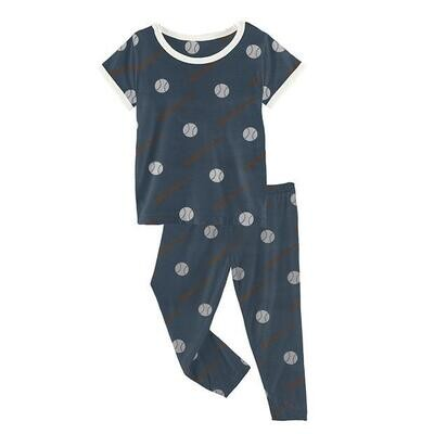 Kickee Pants Short Sleeve Pajama Set - Deep Sea Baseball