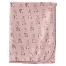 Kickee Pants Print Swaddling Blanket - Baby Rose Ballet
