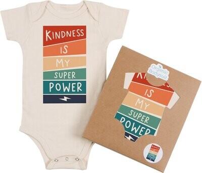 """Morado Designs """"Kindness is My Superpower"""" Onesie"""