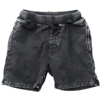 Wes & Willy Black Faded Fleece Shorts