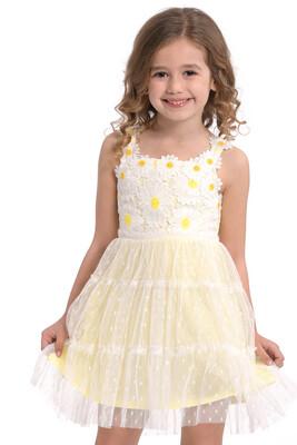 Baby Sara Lace Overlay Dress - Yellow