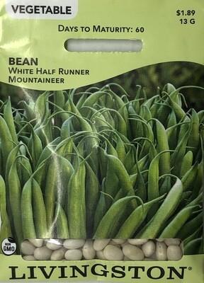 BEAN - WHITE HALF RUNNER/MOUNTNEER - BUSH