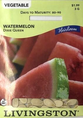 WATERMELON - HEIRLOOM - DIXIE QUEEN