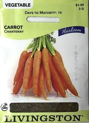 CARROT - HEIRLOOM - CHANTENAY