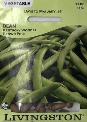 BEAN - KENTUCKY WONDER BROWN - POLE GREEN