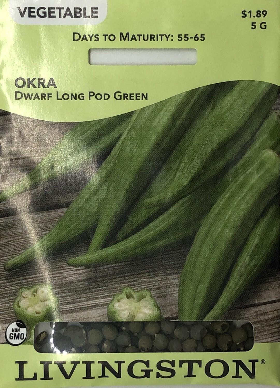 OKRA - DWARF LONG POD GREEN