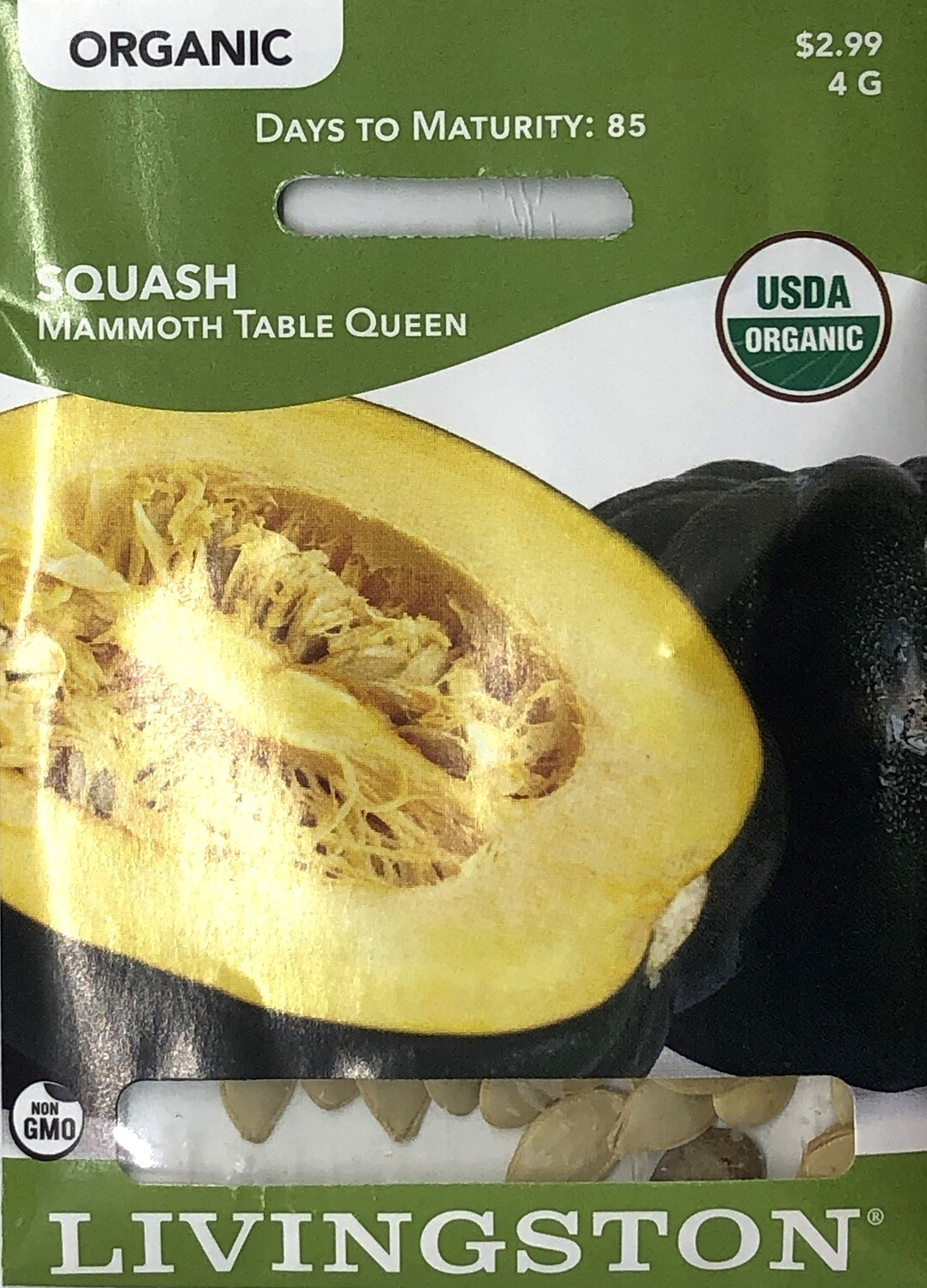 SQUASH - ORGANIC - MAMMOTH TABLE QUEEN BUSH