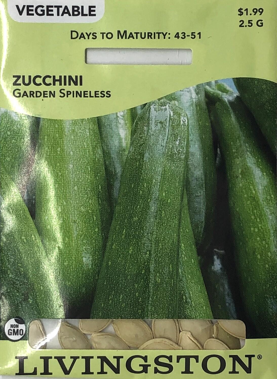 SQUASH - ZUCCHINI - GARDEN SPINELESS