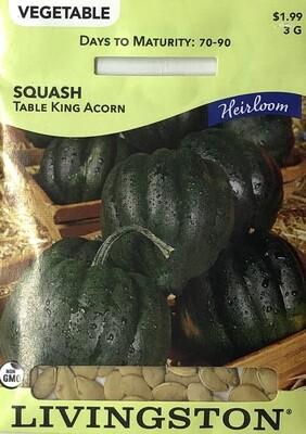 SQUASH - HEIRLOOM - TABLE KING ACORN