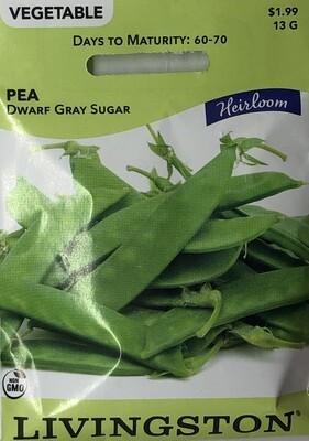 PEA - HEIRLOOM - DWARF GRAY SUGAR