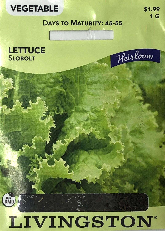 LETTUCE - HEIRLOOM - SLOBOLT