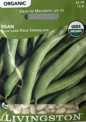 BEAN - ORGANIC - BLUE LAKE POLE STRINGLESS