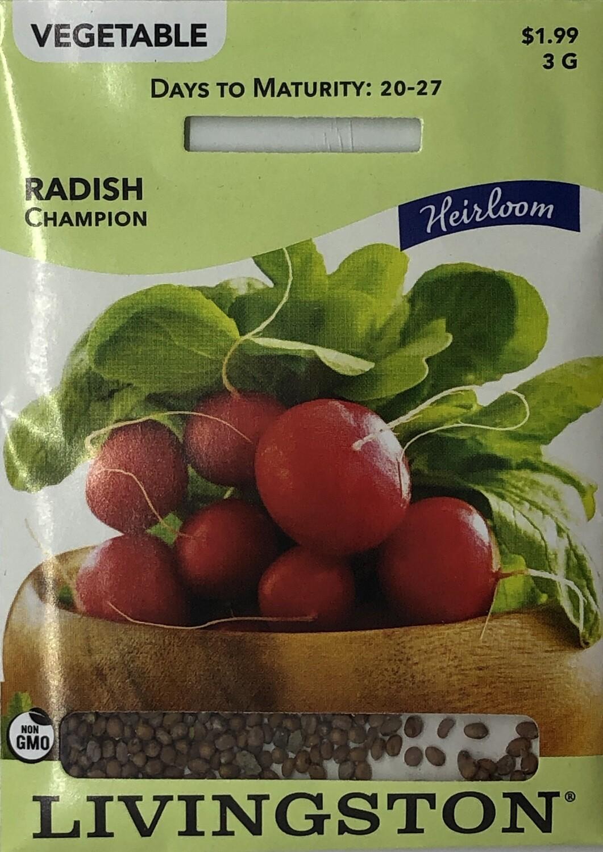 RADISH - HEIRLOOM - CHAMPION