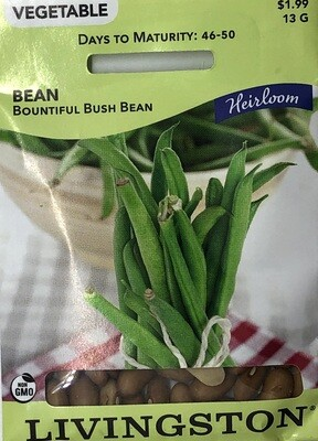 BEAN - HEIRLOOM - BOUNTIFUL BUSH BEAN