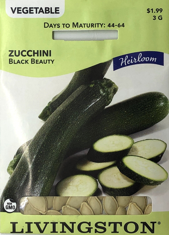 ZUCCHINI - HEIRLOOM - BLACK BEAUTY