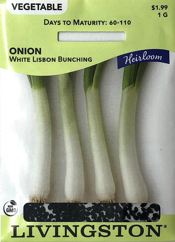 ONION - HEIRLOOM - WHITE LISBON BUNCHING