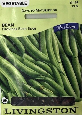 BEAN - BUSH - HEIRLOOM - PROVIDER
