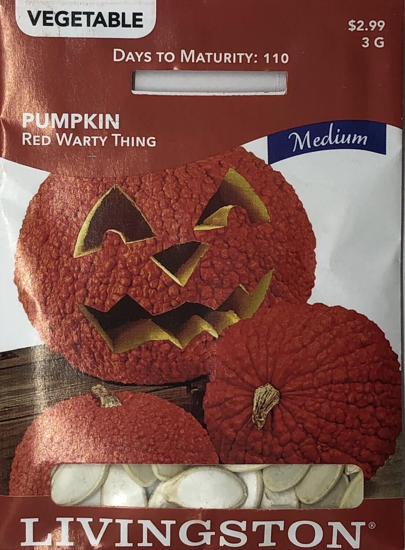PUMPKIN - RED WARTY