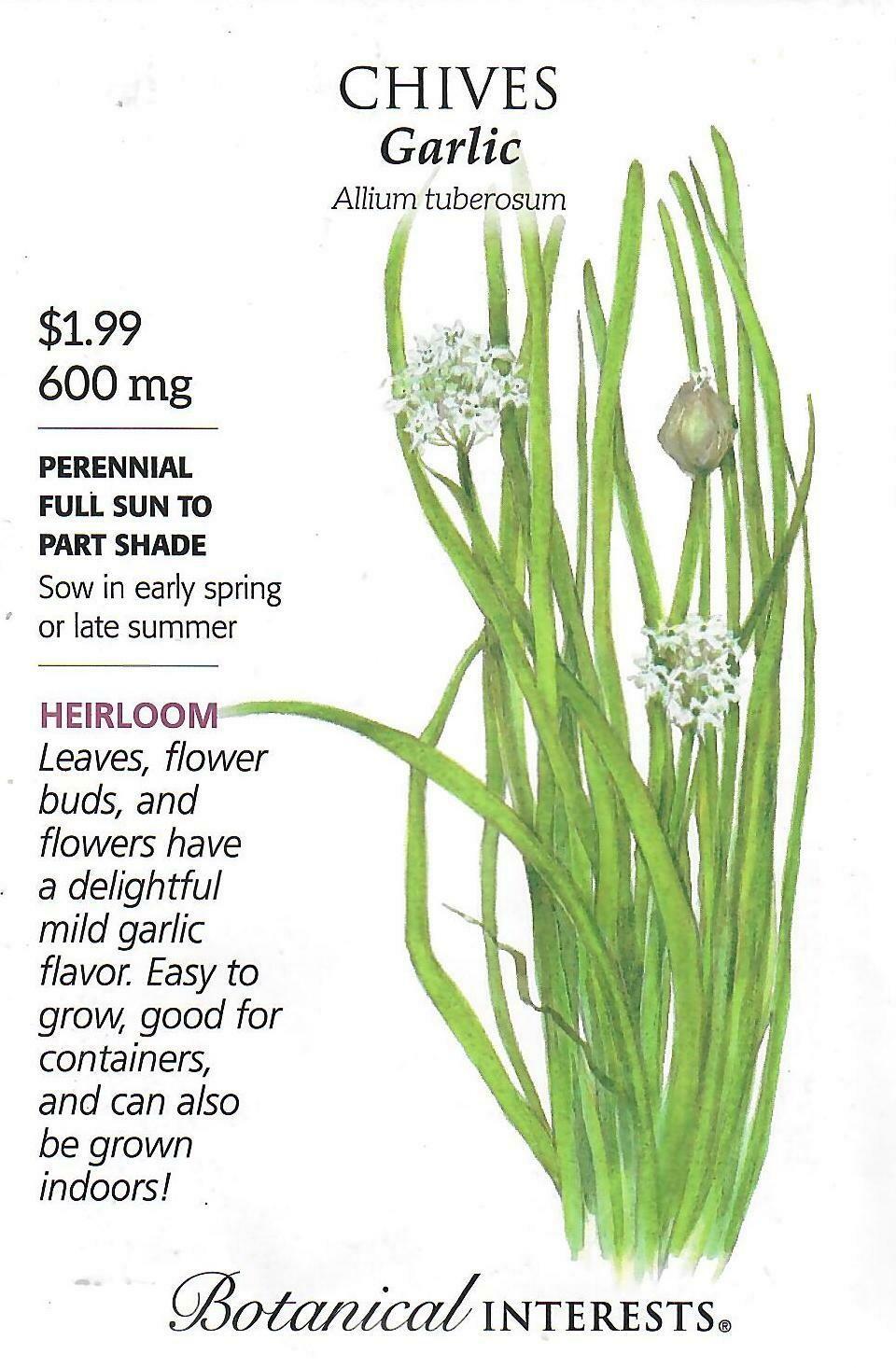 Chives Garlic Botanical Interests