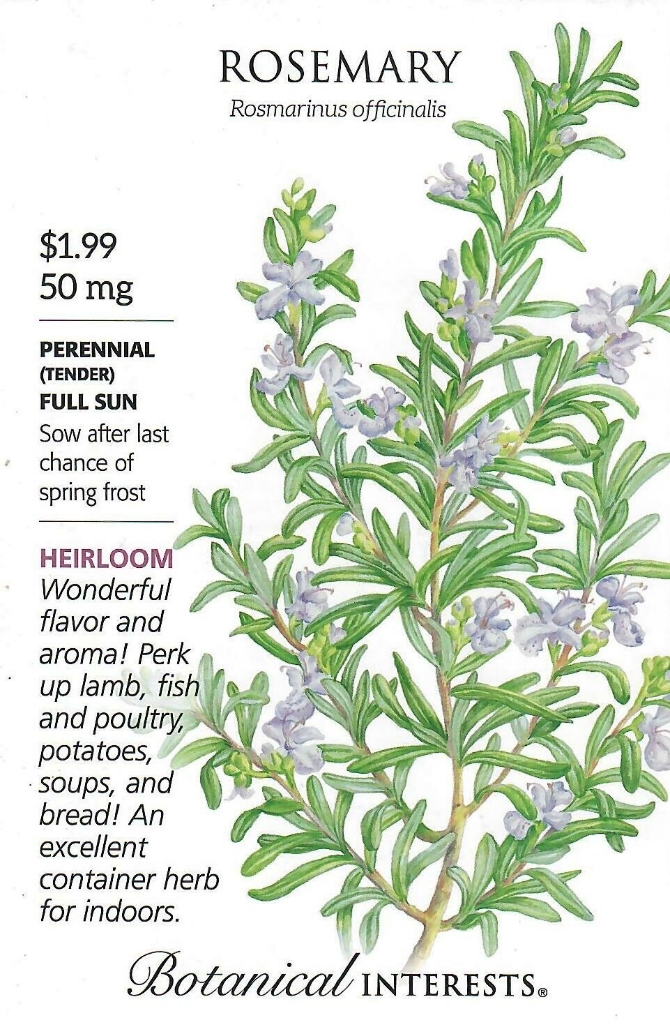 Rosemary Botanical Interests