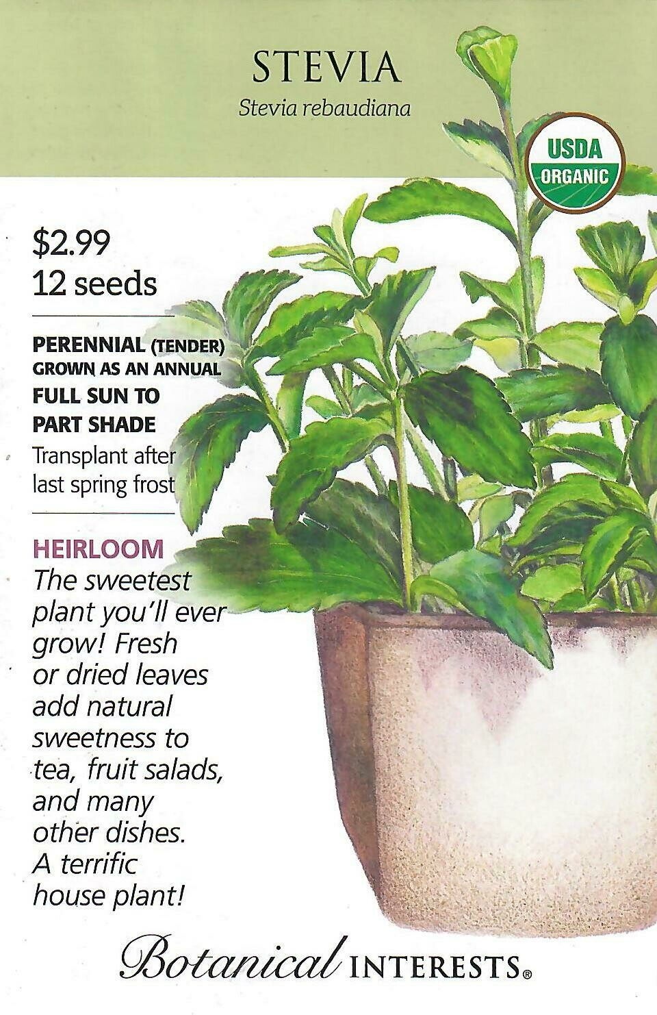 Stevia Candy Org Botanical Interests