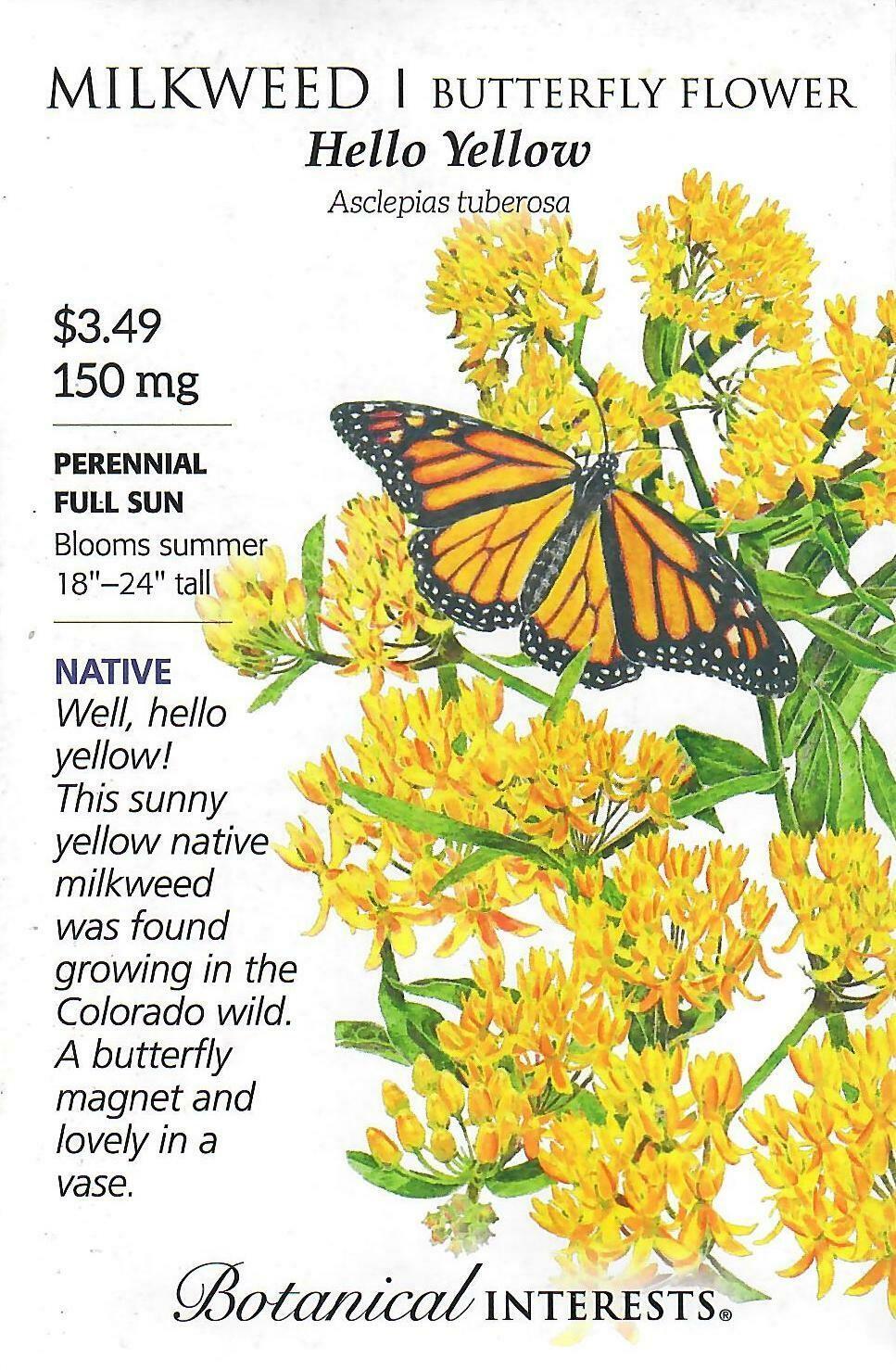 Milkweed Hello Yellow Botanical Interests