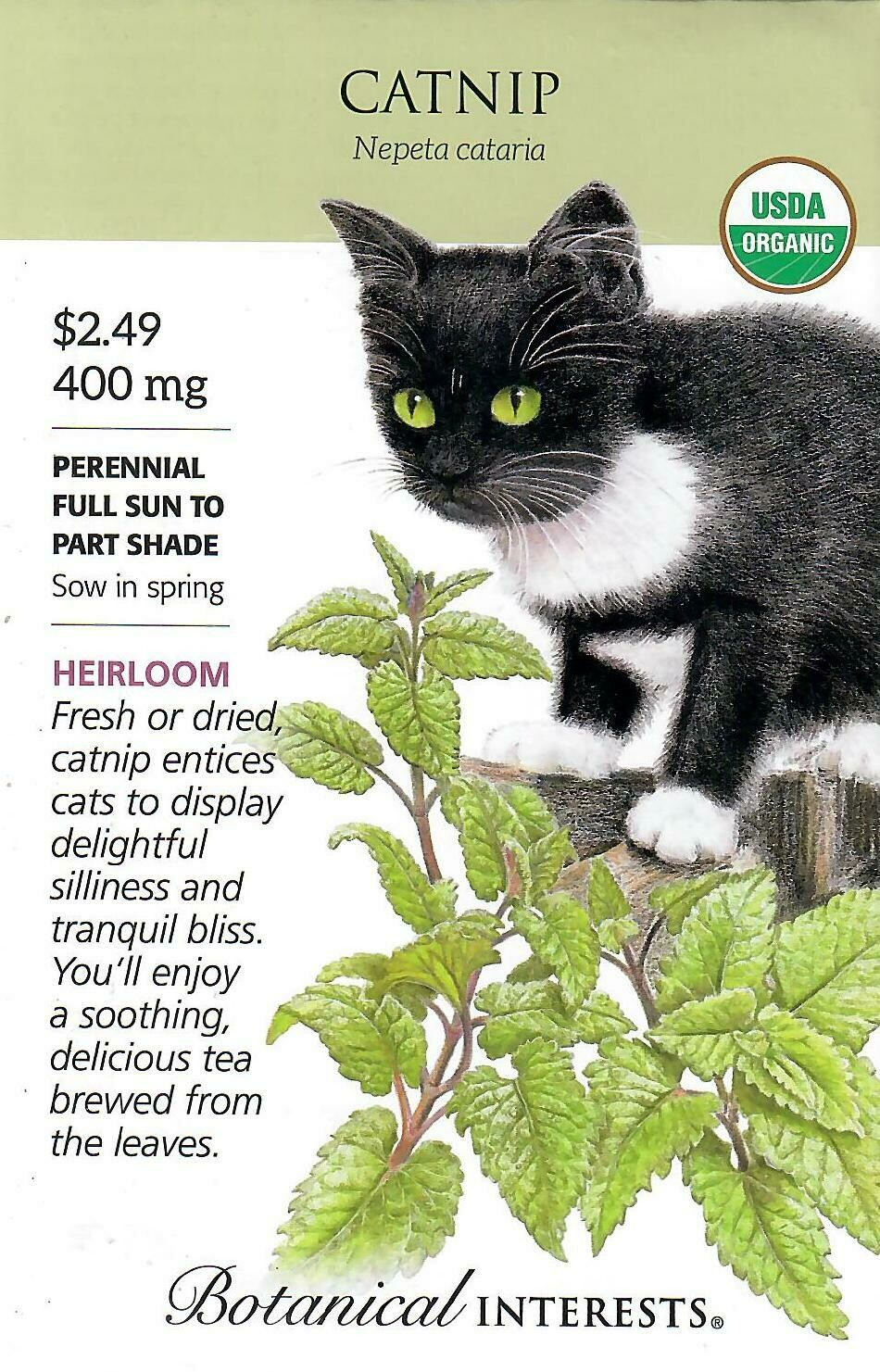 Catnip Org Botanical Interests