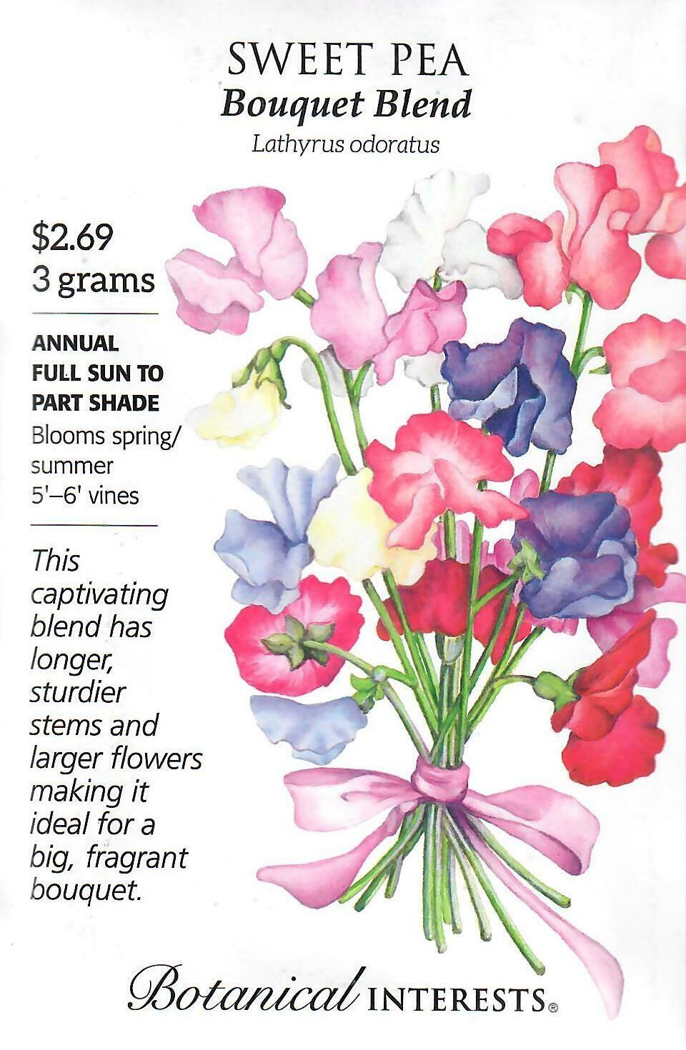 Sweet Pea Bouquet Blend Botanical Interests
