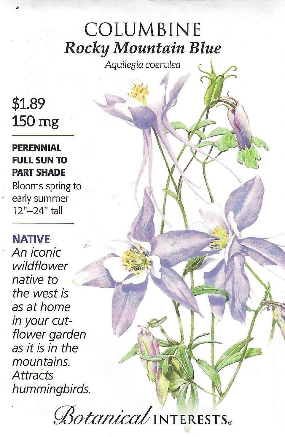 Columbine Rocky Mountain Blue Botanical Interests