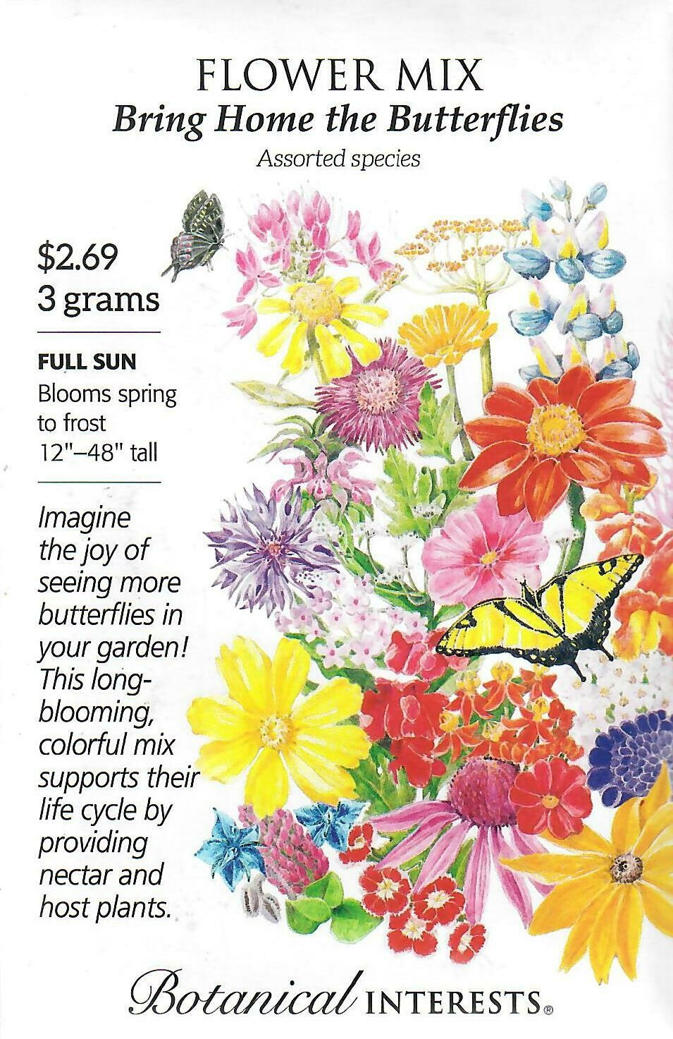 Flower Mix Bring Home Butterfly Botanical Interests