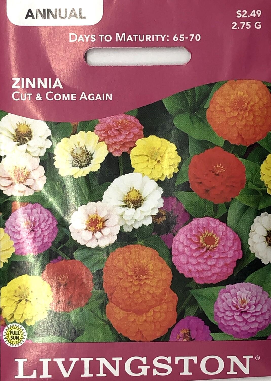 ZINNIA - CUT & COME AGAIN
