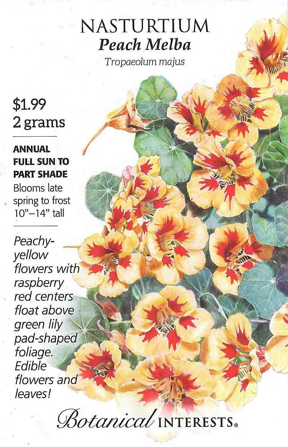 Nasturtium Peach Melba Botanical Interests