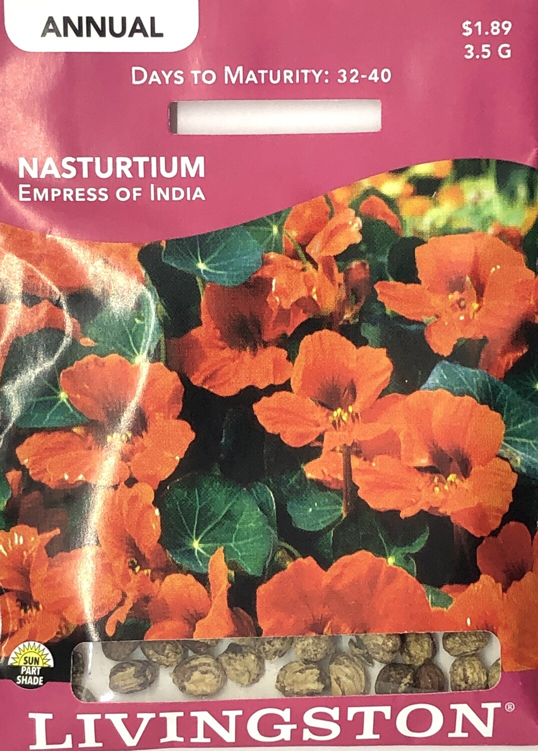 NASTURTIUM - EMPRESS OF INDIA