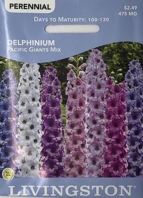 DELPHINIUM - PACIFIC GIANTS MIX
