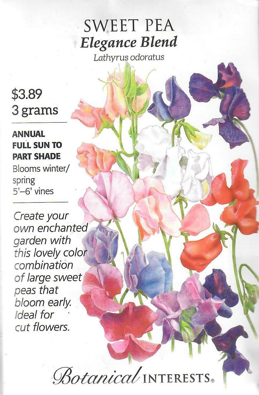 Sweet Pea Elegance Blend Botanical Interests