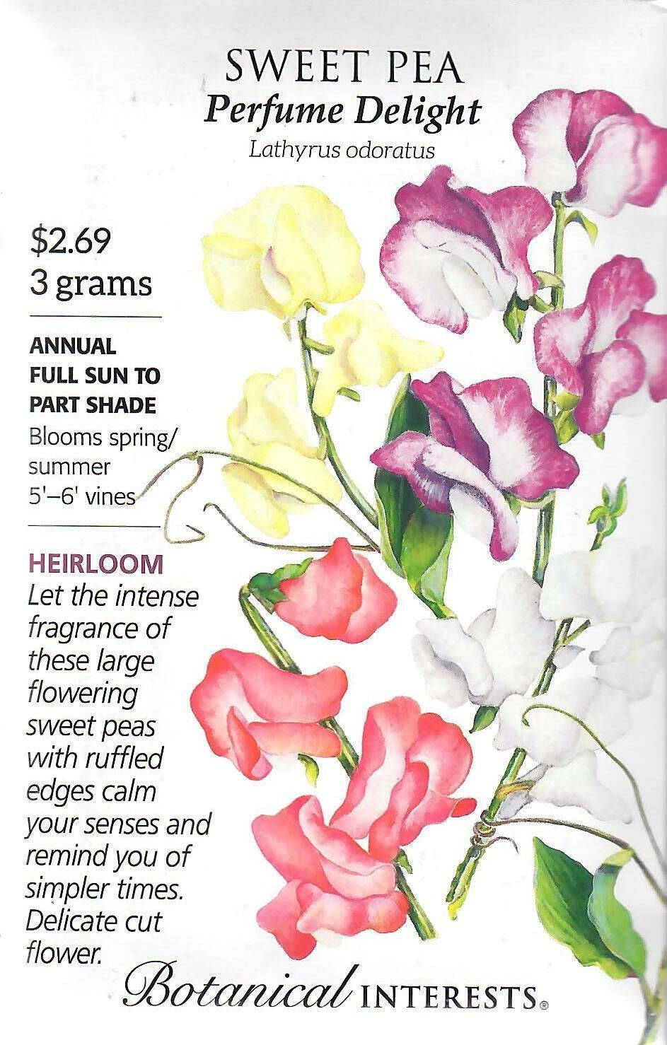 Sweet Pea Perfume Delight Blend Botanical Interests