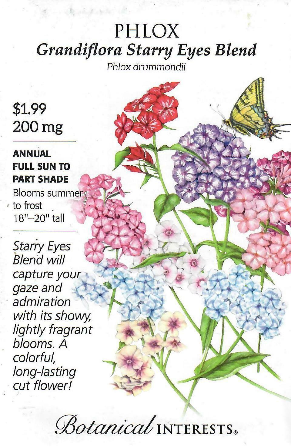 Phlox Grandiflora Starry Eyes Blend Botanical Interests