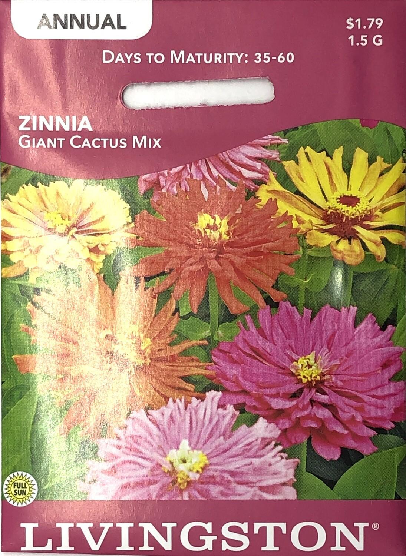 ZINNIA - GIANT CACTUS MIX