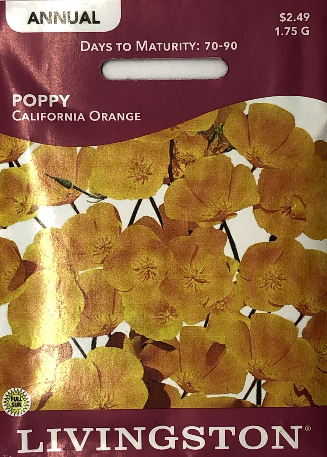 POPPY - CALIFORNIA ORANGE