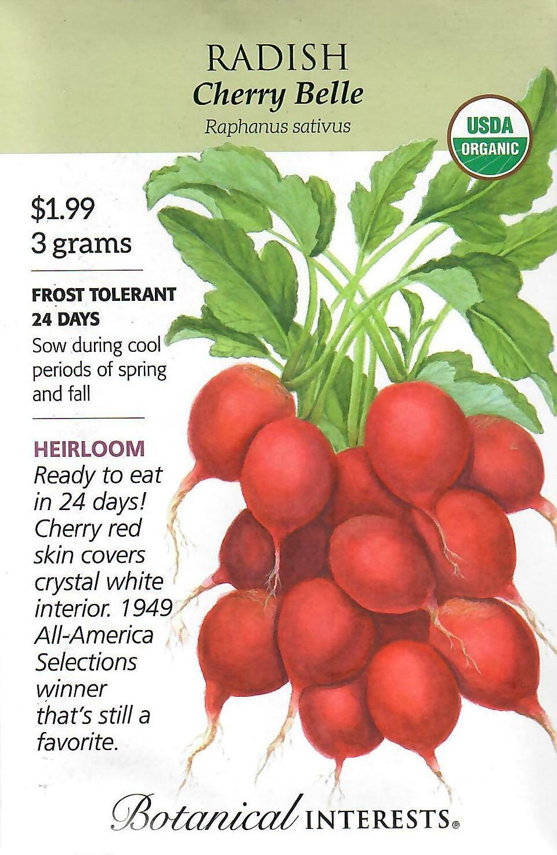 Radish Cherry Belle Org Botanical Interests