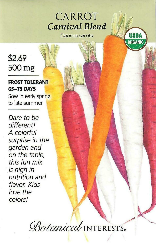 Carrot Carnival Blend Org Botanical Interests